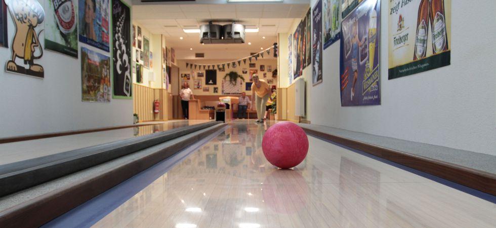 Unsere Bowlingbahn